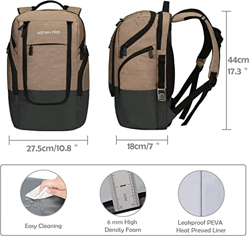 Veevanpro Backpack Cooler Laptop Backpack 15.6 inches Backpack Coolers Insulated Leakproof Waterproof Cooler Bag 24 Can