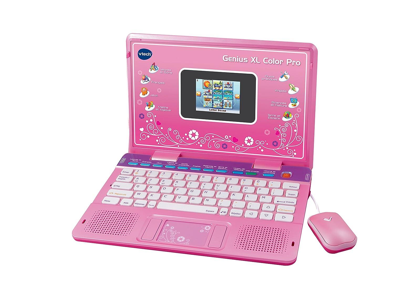 vtech 133865 ordinateur pour enfants genius xl color pro bilingue rose amazonfr jeux et jouets - Genius Xl Color