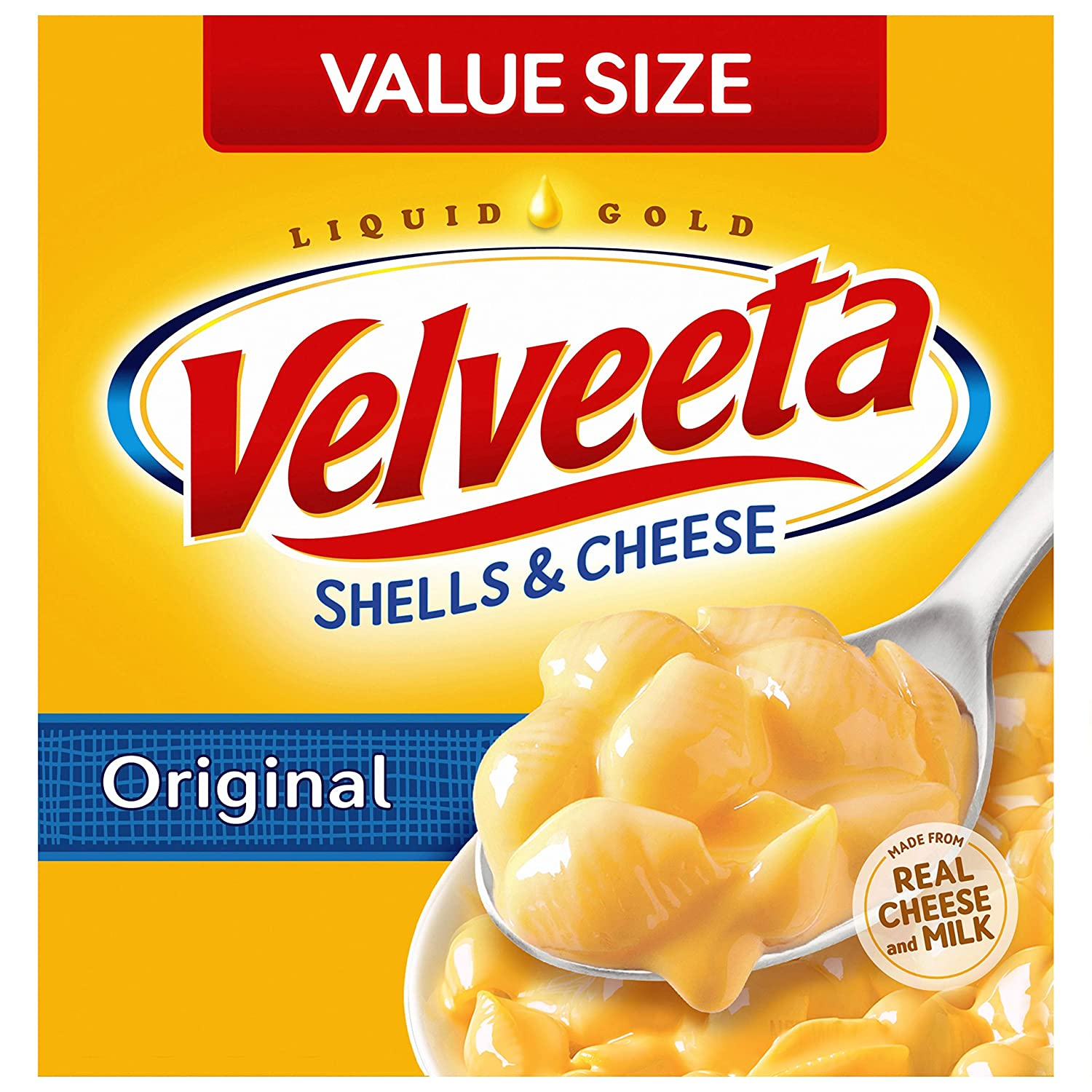 Velveeta Original Shells and Cheese Meal Value Size (24 oz Boxes, Pack of 3)