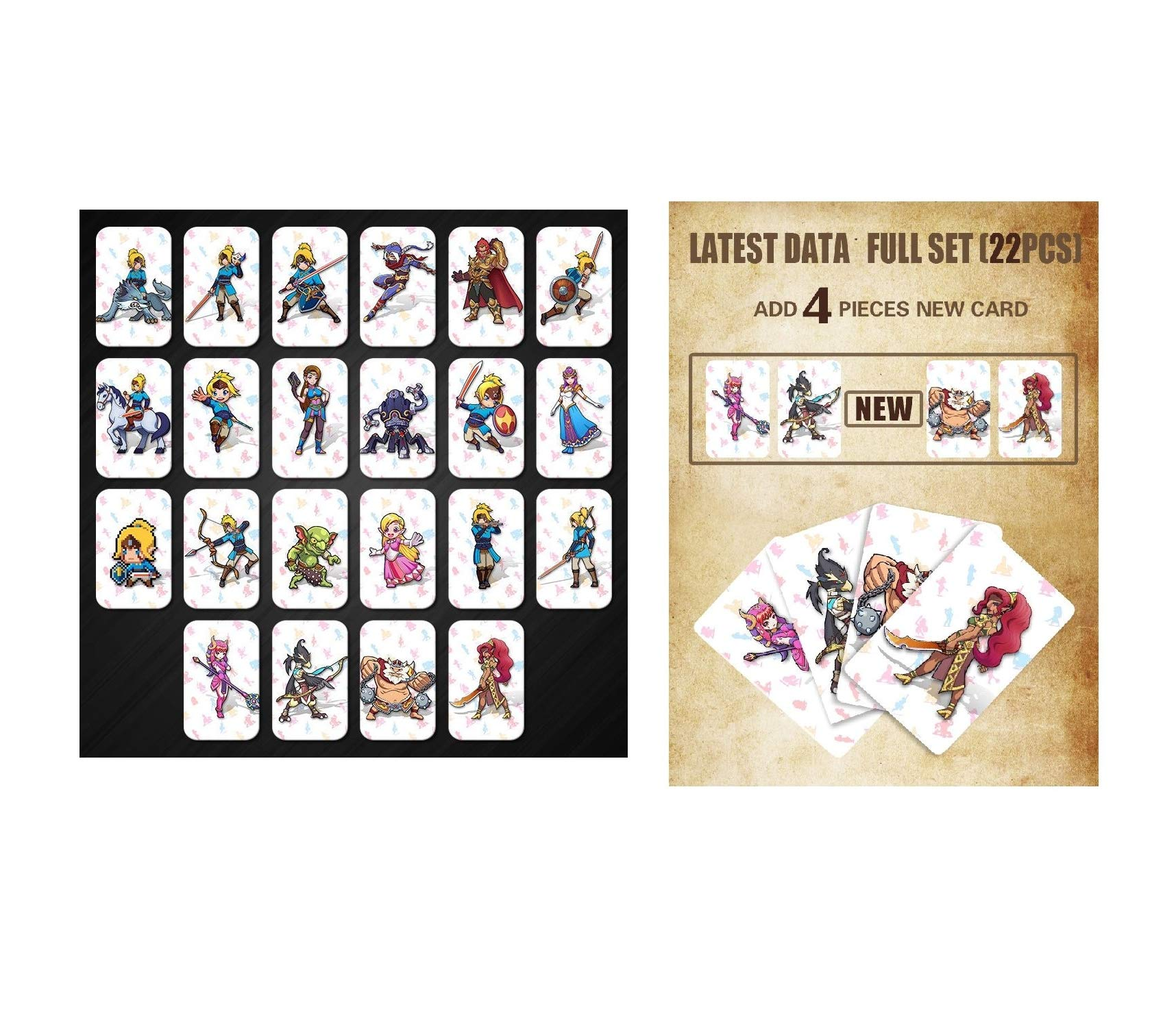 Full Set NFC PVC Tag Cards Breath of The Wild 20 Hearts Wolf Link Quick Arrive