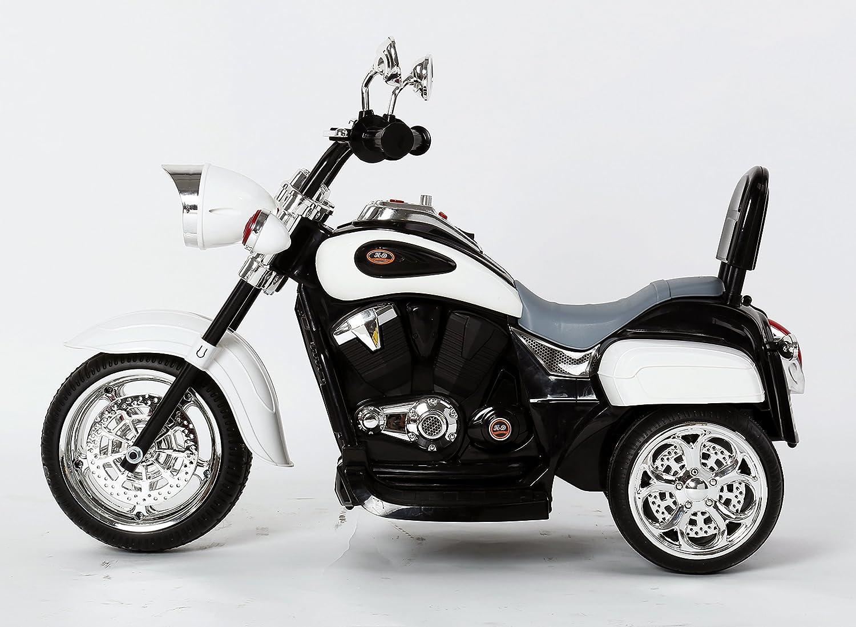 Ricco TR1501 Kids 3 Wheel Chopper Trike Motorcycle Electric Ride on Motor Bike LED Lights and Music Matallic BLUE