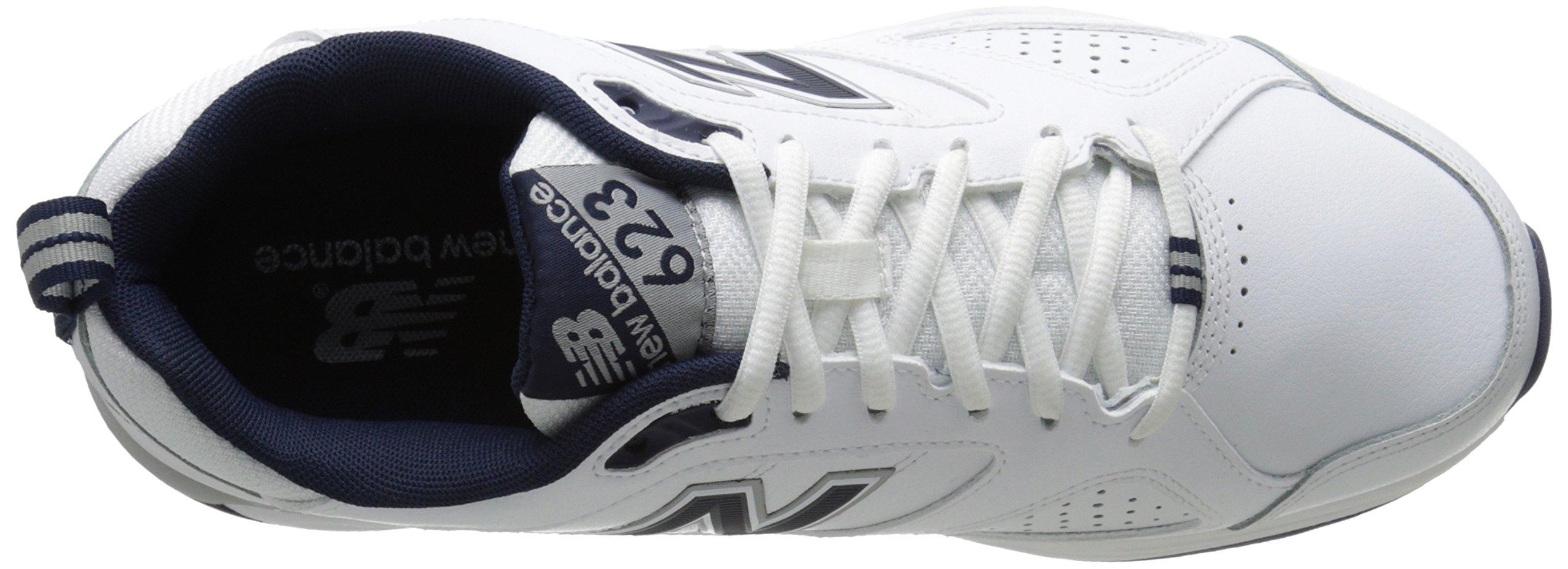 New Balance Men's MX623v3 Casual Comfort Training Shoe,  White/Navy, 8 M US by New Balance (Image #8)