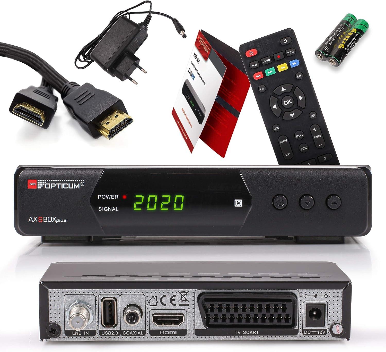 Opticum SBOX Plus Receptor Satélite HD y Reproductor Multimedia: Amazon.es: Electrónica