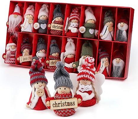 ca 3,3 bis 6,7 cm Mütze Weihnachtsmann Weihnachten Baumschmuck Deko Holz