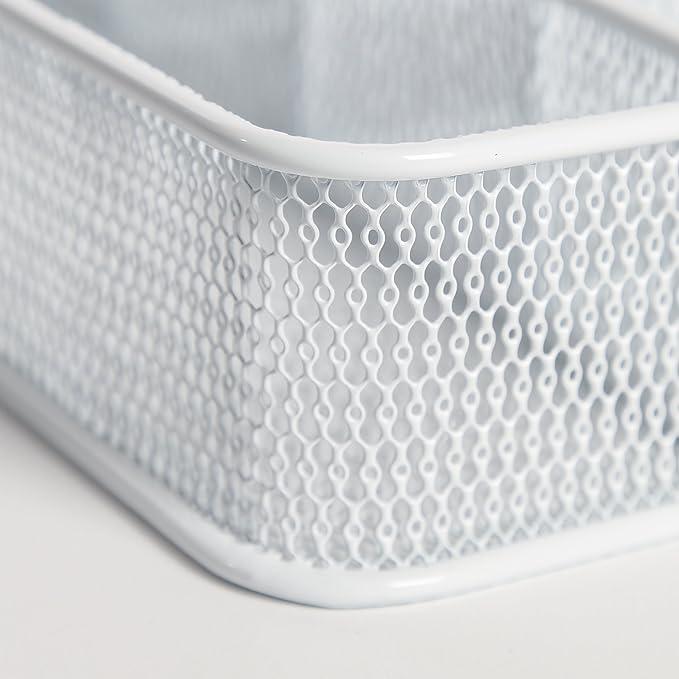 Sevilla clásicos cubiertos de malla grande de acero para utensilios bandeja de cubiertos para cajón de escritorio organizador Set, color blanco: Amazon.es: ...