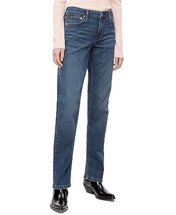 79d0634de1 Calvin Klein Women's Mid Rise Straight Fit Jeans, Hamptons Blue, 24X28