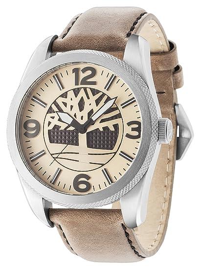 Timberland Reloj Analogico para Hombre de Cuarzo con Correa en Piel 14770JS/07