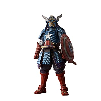 BLUEFIN Bandai Tamashii Nations Meisho Manga Realization Samurai Captain America Action Figure: Bandai Tamashii Nations: Toys & Games [5Bkhe0805123]