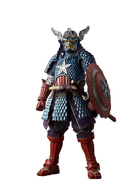 huge discount 5b484 e7123 Amazon.com  Tamashii Nations Bandai Meisho Manga Realization Samurai  Captain America Action Figure  Bandai Tamashii Nations  Toys   Games