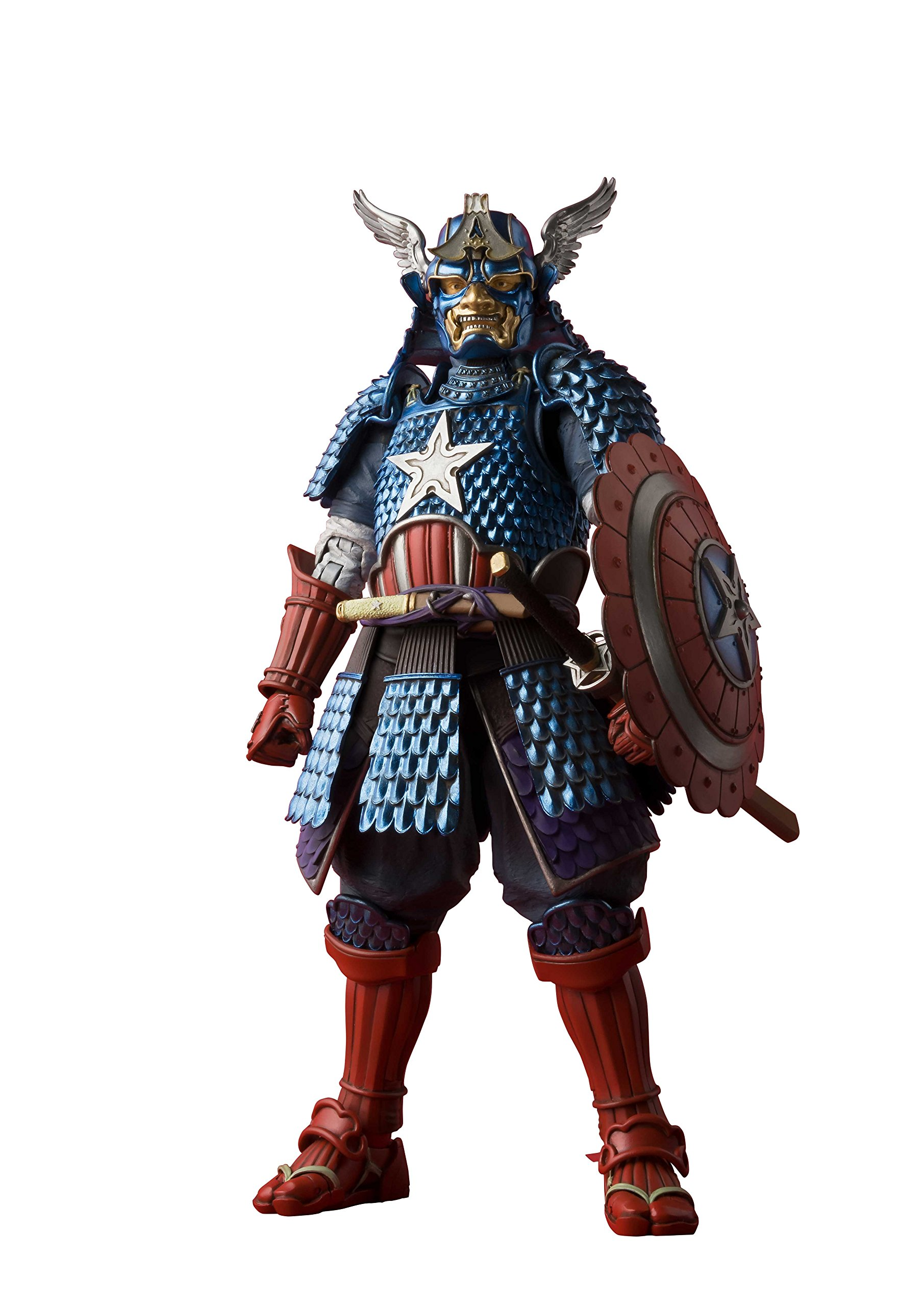 Tamashii Nations Bandai Meisho Manga Realization Samurai Captain America Action Figure