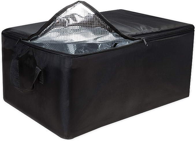 achilles Bolsa más Fresca, Inserto Enfriador para Caja Plegable, Bolsa refrigeradora Plegable Grande, Negra, 57 cm x 37 cm x 25 cm