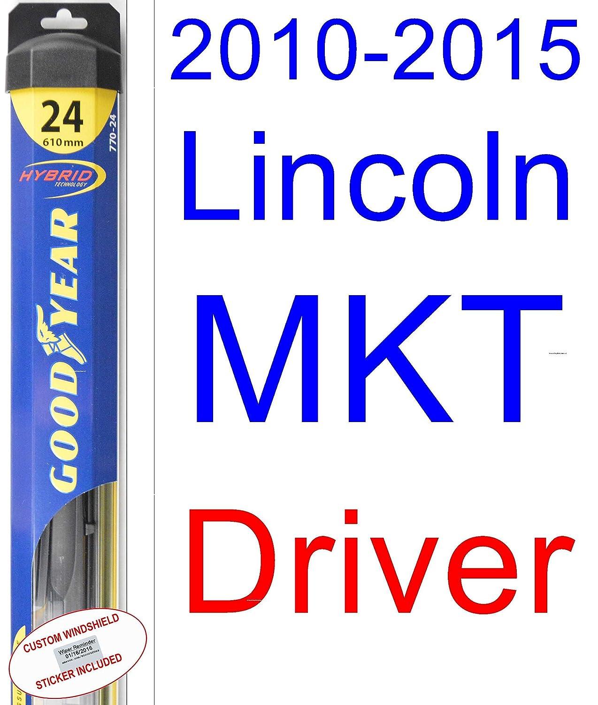 2010 - 2015 Lincoln MKT Repuesto limpiaparabrisas Set/Kit (Goodyear limpiaparabrisas blades-hybrid) (2011,2012,2013,2014): Amazon.es: Coche y moto