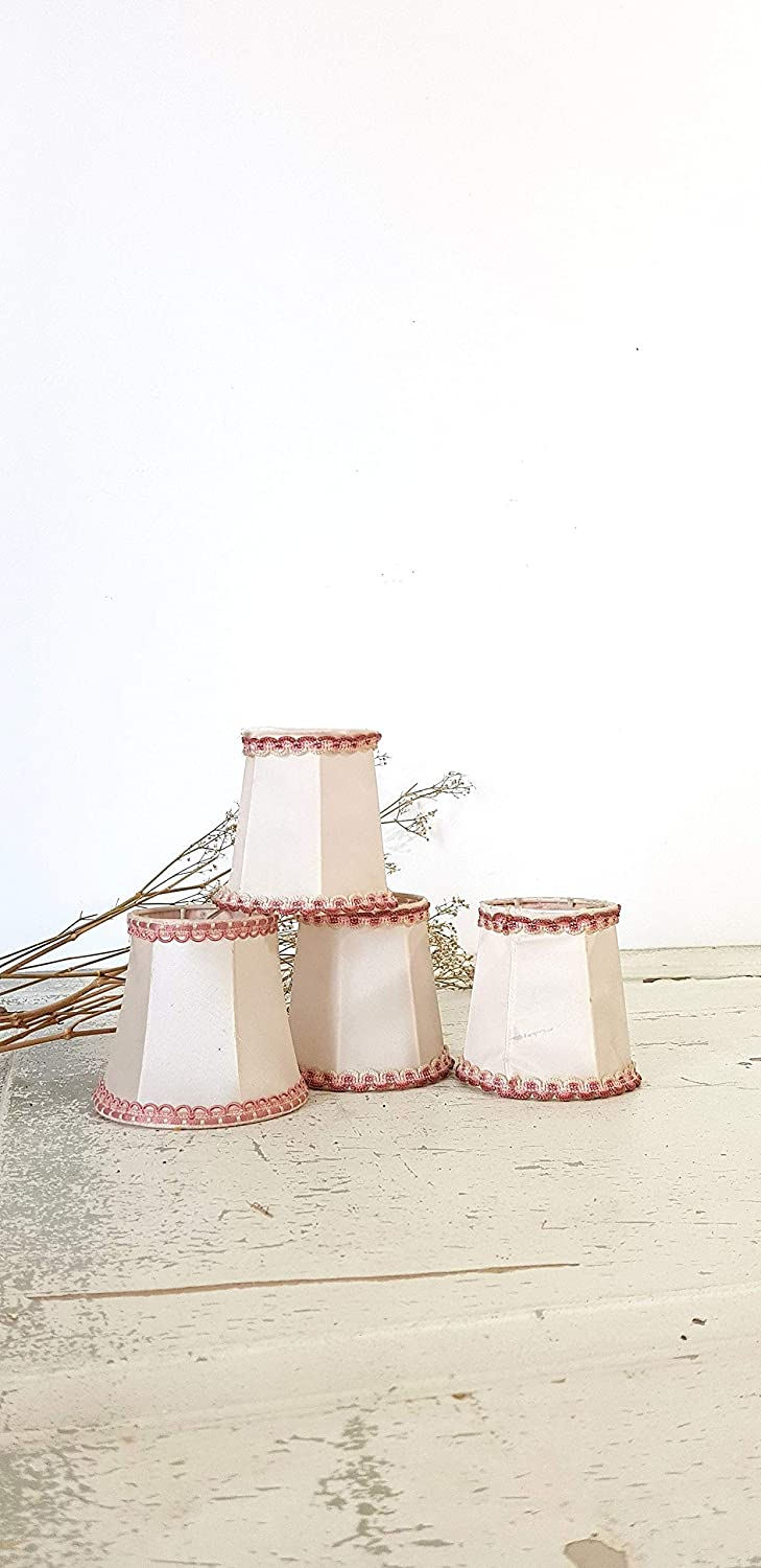 Amazon Com Amz885 Set Of 4 French Vintage Pink And Beige