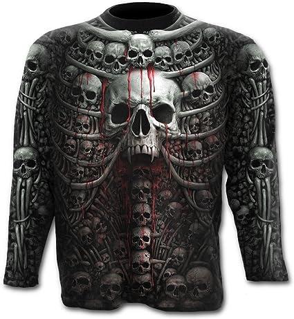 Spiral – costillas de muerte - camiseta de manga larga para hombre, Negro Negro negro XX-Large: Amazon.es: Ropa y accesorios