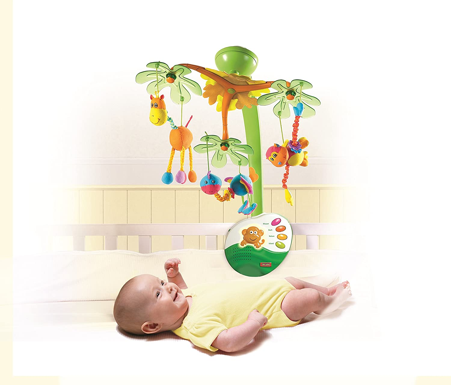 Tiny Love Baby /& infant nursery musical mobile Sweet island dreams mobile