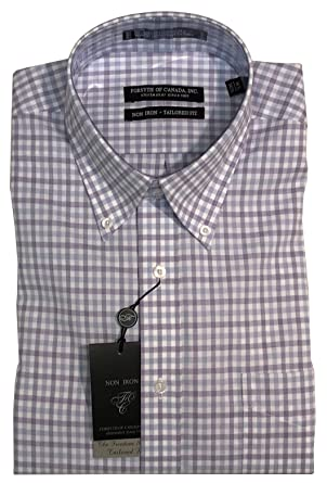 8e915f2e8 Forsyth of Canada Tailored Fit Non-Iron Long Sleeve Dress Shirt (16 34/