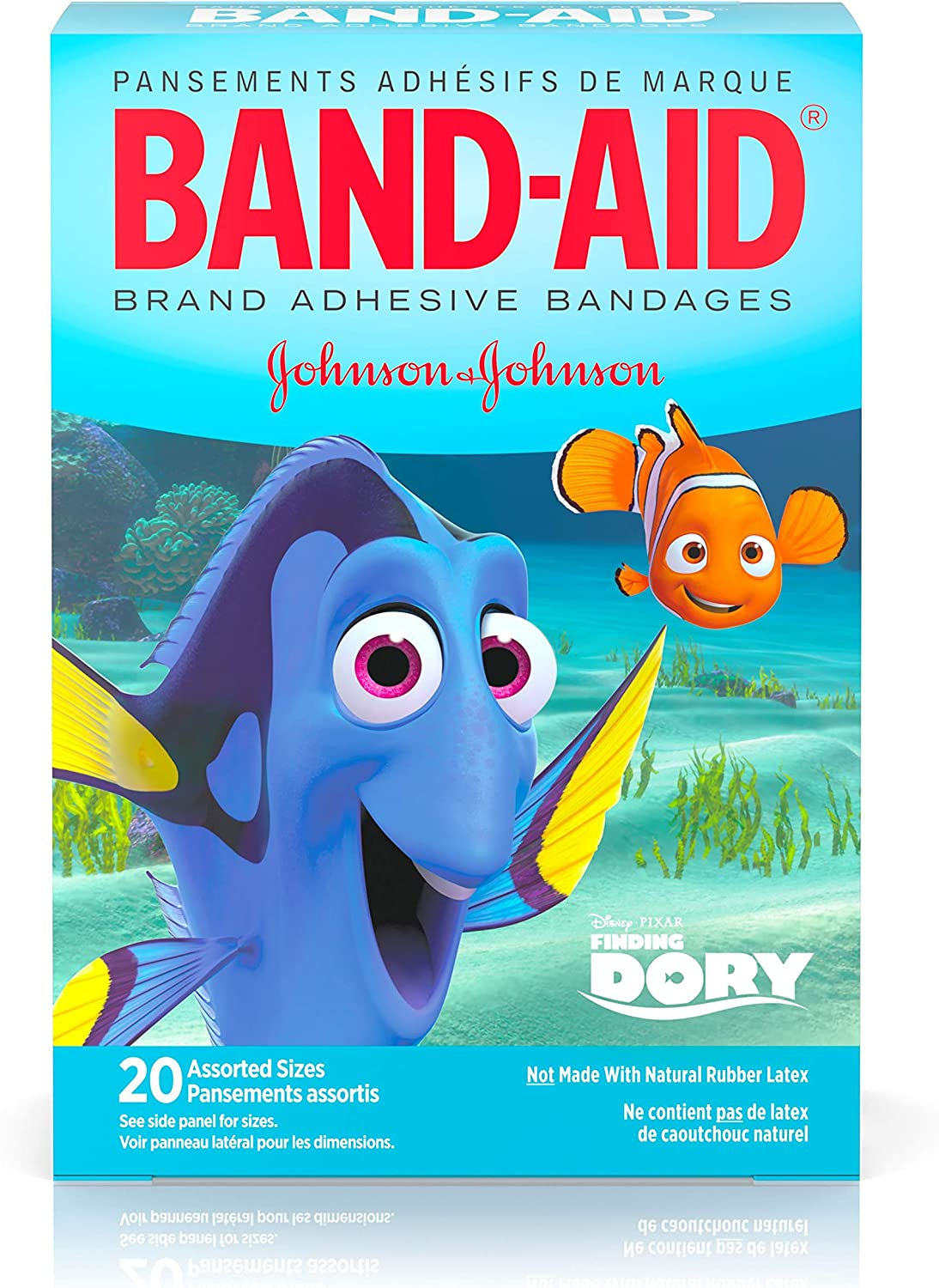 Amazon Com Band Aid Adhesive Bandages Disney S Finding Dory 20 Count Health Personal Care