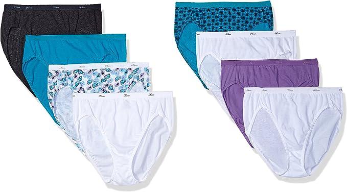 Hanes Cotton Hi-Cut Panties 6-Pack Includes 2 Free Bonus (P843WB) -ASSORTED -9 -8PK: Amazon.es: Ropa y accesorios
