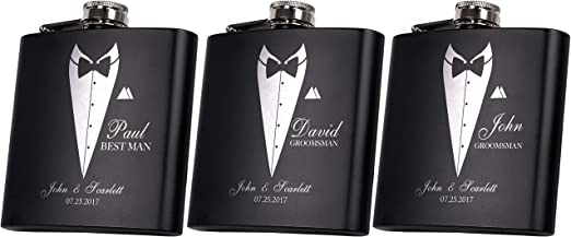 Crisky Classic Black Tuxedo Gift Bags for Groomsman Father/'s Birthday Wedding of
