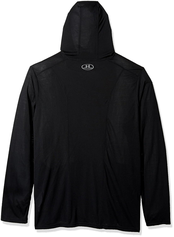 Black Under Armour NCAA Missouri Tigers Mens Threadborne Hooded Long Sleeve Tee 3X-Large
