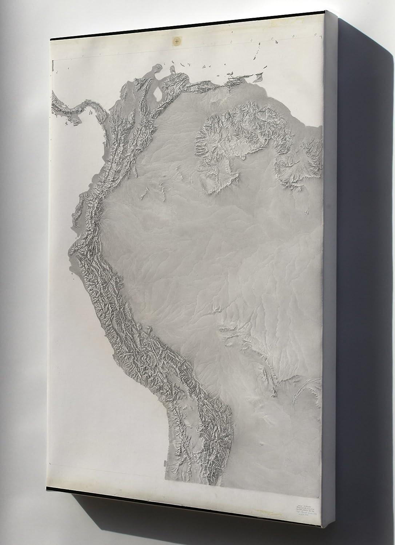 Amazon.com : Canvas 24x36; Cia Terrain Map Of South America & Andes ...
