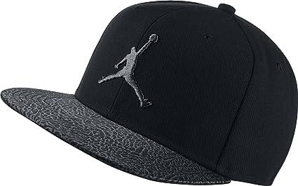 Nike Michael Jordan Elephant Bill Snapback Gorra, Niños, Negro (Black), Talla