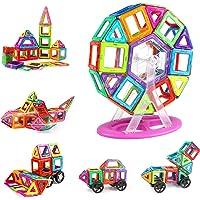 KIDCHEER Construcciones Magneticas Niños 100 Piezas Bloques Magneticos Niños Juegos Educativos Niños con Bolsa de…