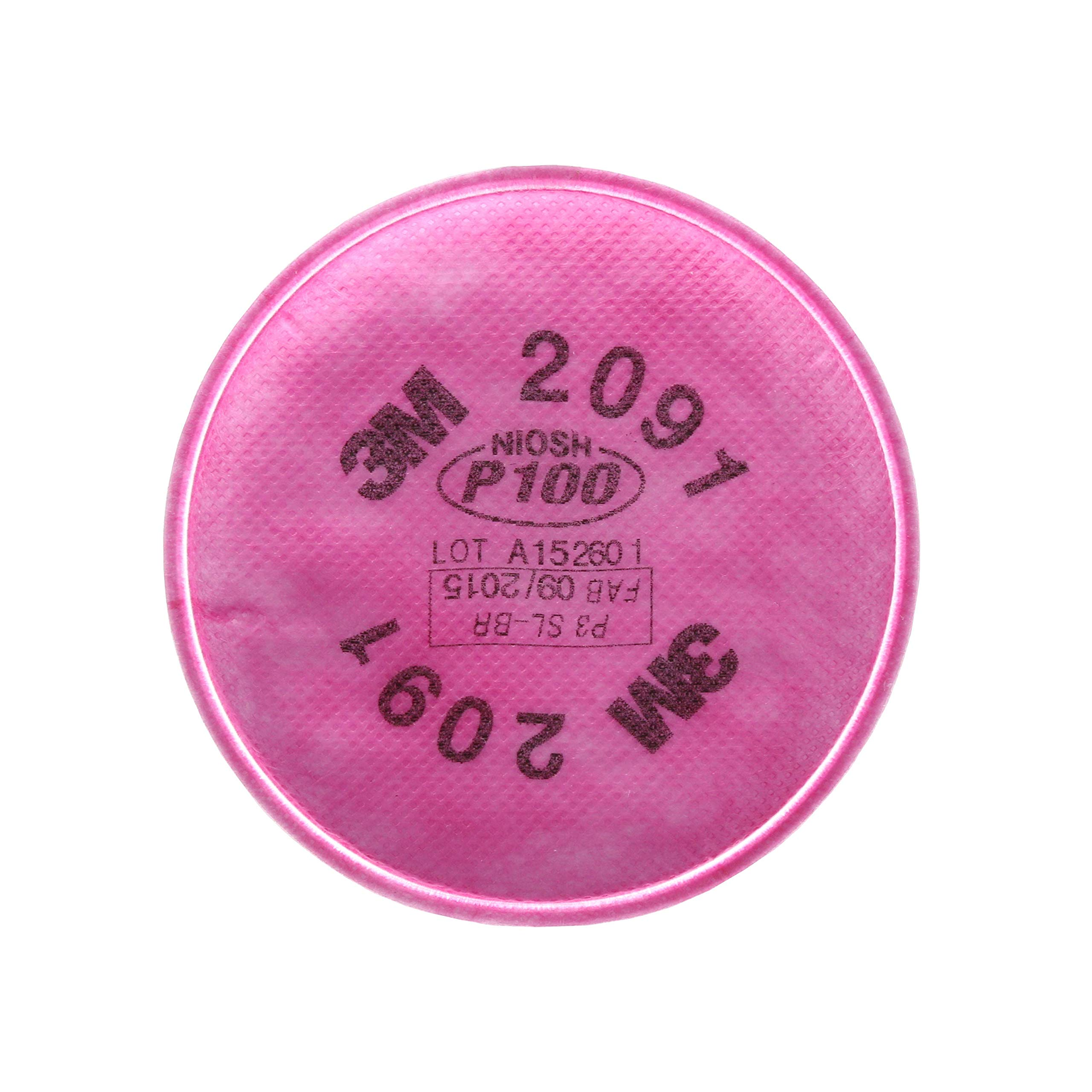 3M Particulate Filter 2091/07000(AAD), P100 Respiratory Protection, 50 Pairs by 3M Personal Protective Equipment