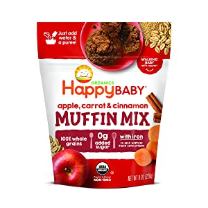 Happy Baby Organics Muffin Mix, Apple Carrot & Cinnamon, 8 Ounce (Pack of 1)