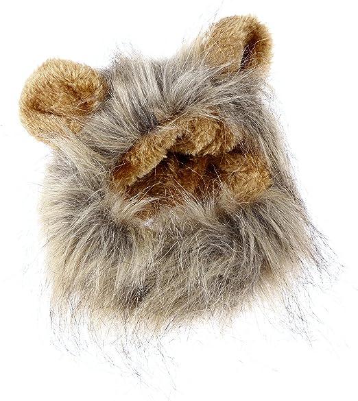 UEETEK Mascota Disfraz León Melena Peluca Leon para Gato Perro Pequeño Ajustable: Amazon.es: Productos para mascotas