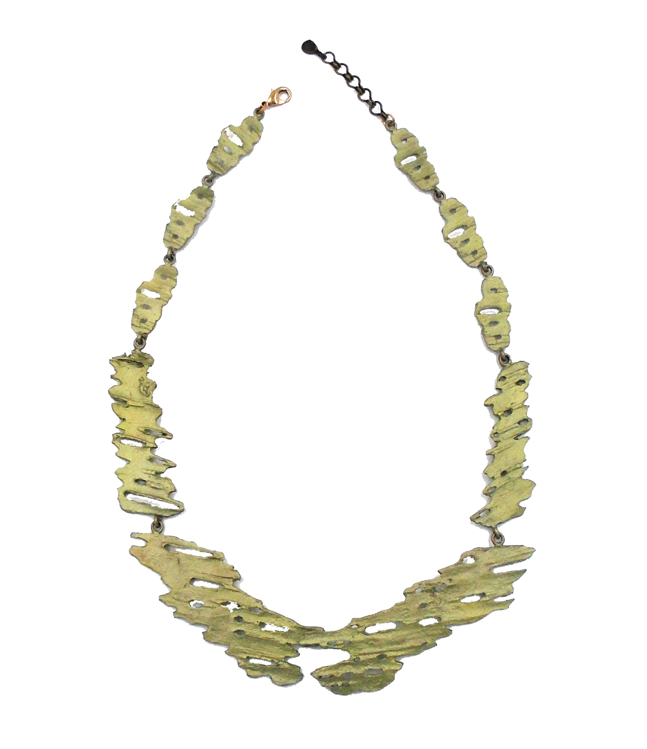 ''Birch Bark'' Contour Necklace by Michael Michaud for Silver Seasons