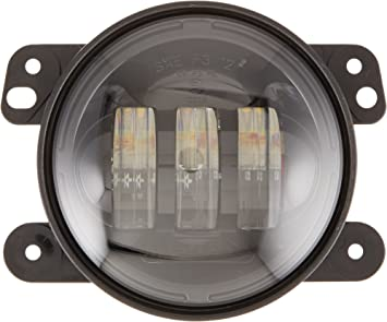 """Black Bezel 07-18 Jeep Wrangler JK JW Speaker Model 6145 J2 LED 4/"""" Fog Lights"""