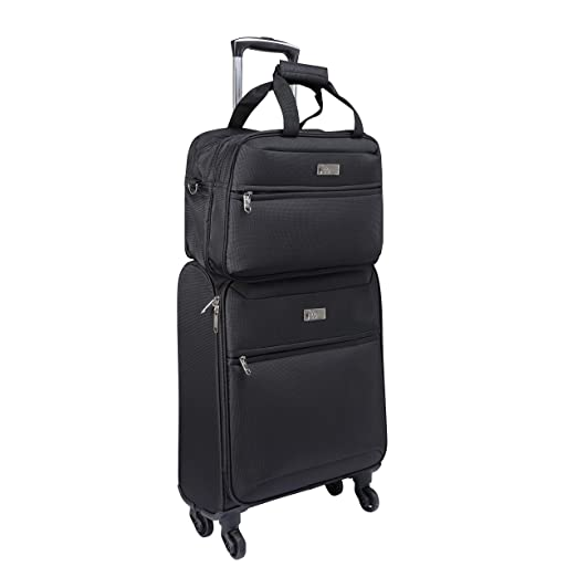 Amazon.com | Cabin Max️ Copenhagen Carry on Luggage with Spinner Wheels and Spacious Luggage Set - Trolley Suitcase 55x40x20 and Stowaway Bag 35x20x20 ...