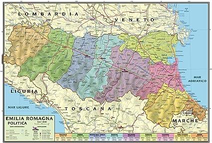 Province Emilia Romagna Cartina Politica.Carta Geografica Murale Regionale Emilia Romagna 100x140 Bifacciale Fisica E Politica Amazon It Cancelleria E Prodotti Per Ufficio