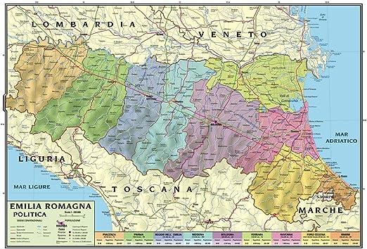 Cartina Fisica E Politica Delle Marche.Carta Geografica Murale Regionale Emilia Romagna 100x140 Bifacciale Fisica E Politica Amazon It Cancelleria E Prodotti Per Ufficio