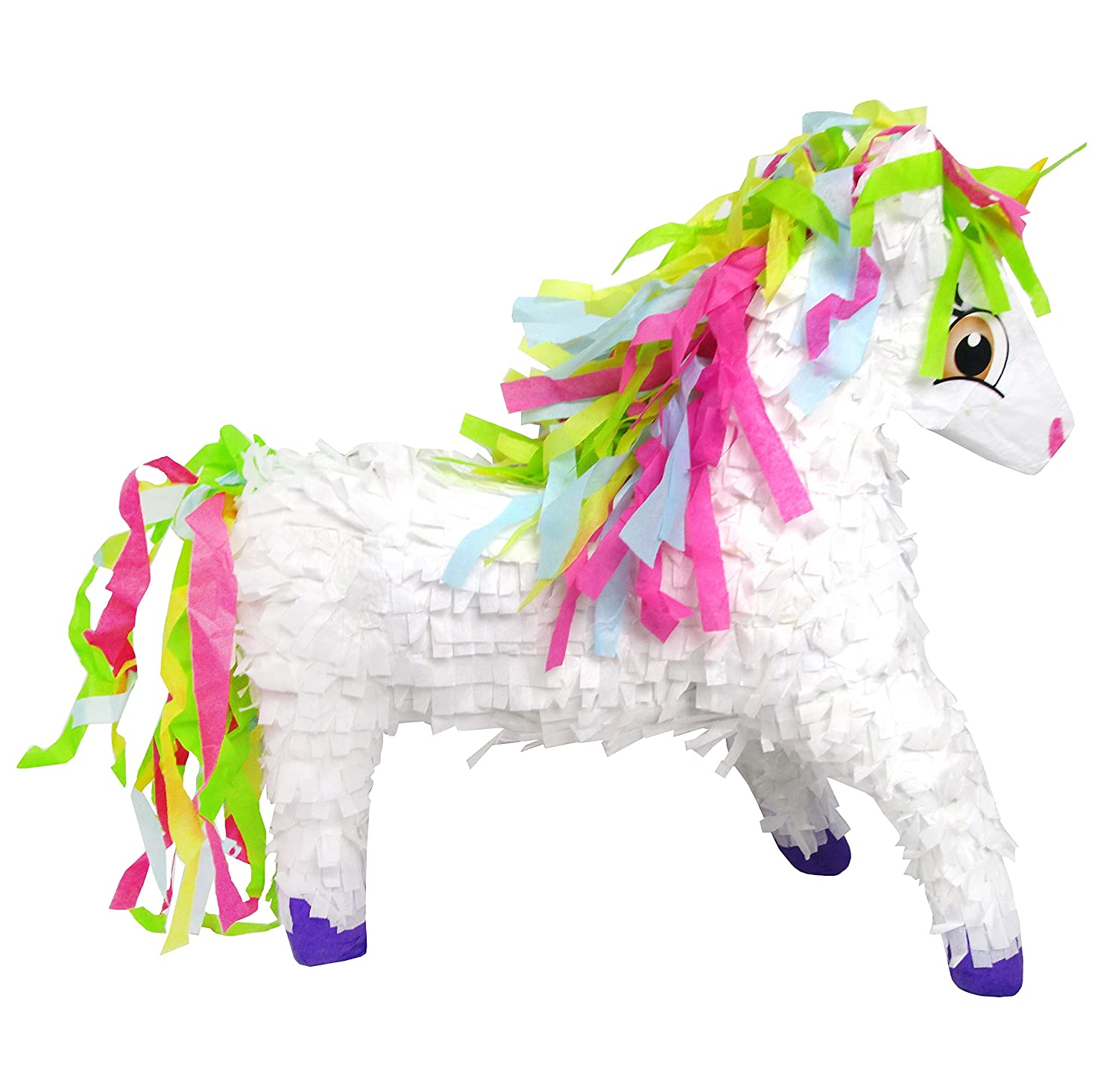 Pinatas Unicorn with Rainbow Mane, 3D Large Party Game, Photo Prop and Decoration PF764