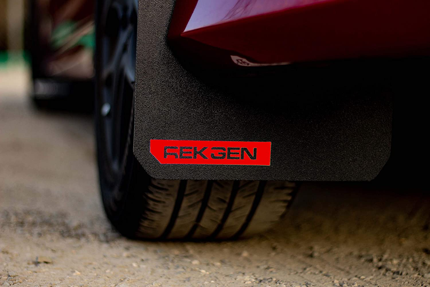 REK GEN Rally Mud Flaps Compatible w/Ford Focus 11+ (Red Logo)