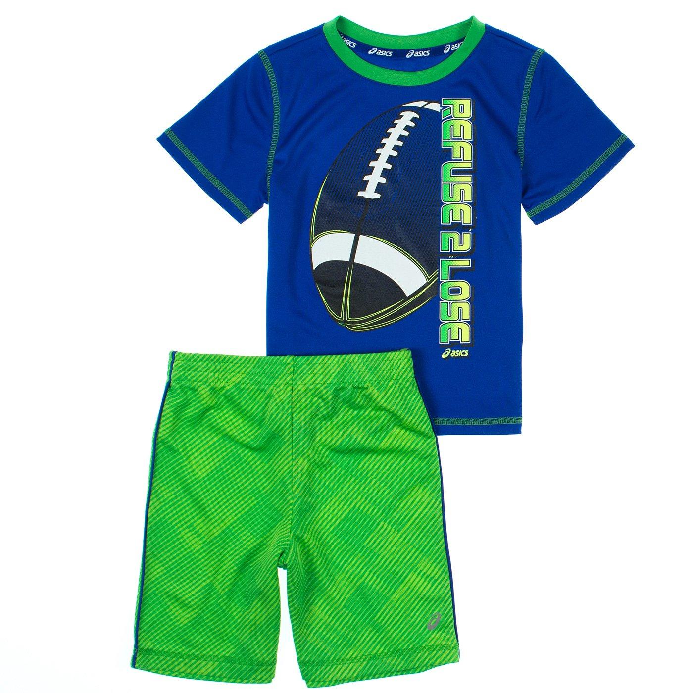 Asics Boys 2-7 2-Piece Athletic Top & Shorts Set 5 Asics Blue