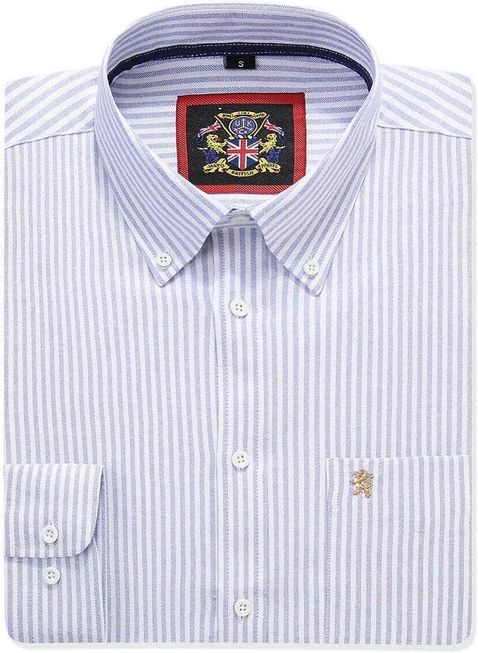 Da Uomo Cotone Ricco Button Down Collare Camicia Oxford rosa blu bianco Trim SLIM FIT