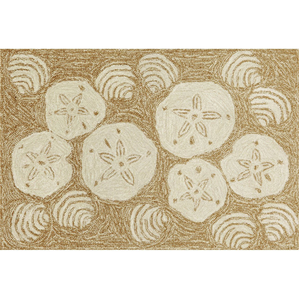 Liora Manne FT012A34622 Whimsy Beach Rocks Area Rug, Indoor/Outdoor, Scatter Size, Natural