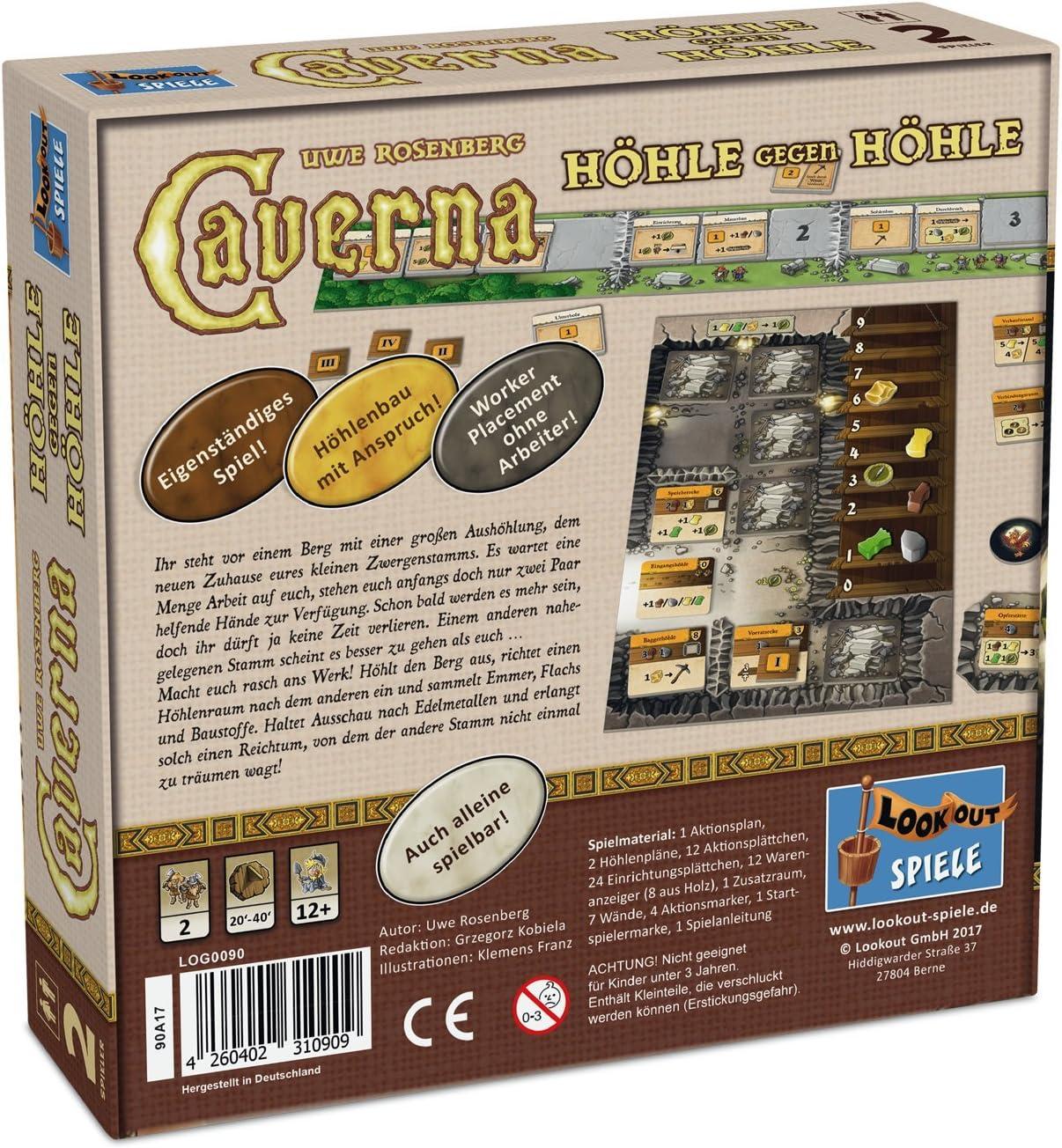 Lookout Games 22160090 – Caverna – Cueva contra Cueva, de 2 ...