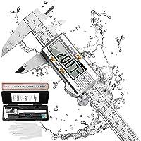 RAGU Digital Caliper Stainless Steel 6 inch, Electronic Vernier Caliper Measuring Tool with Large LCD Display Gauge…