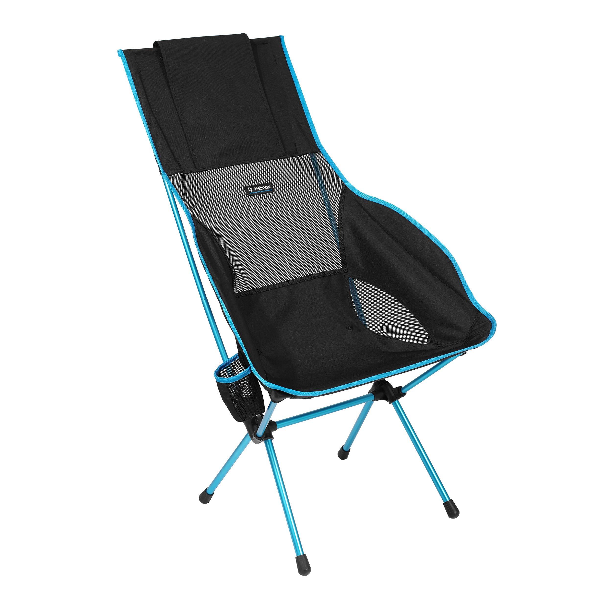 Helinox Savanna High-Back Collapsible Camp Chair, Black