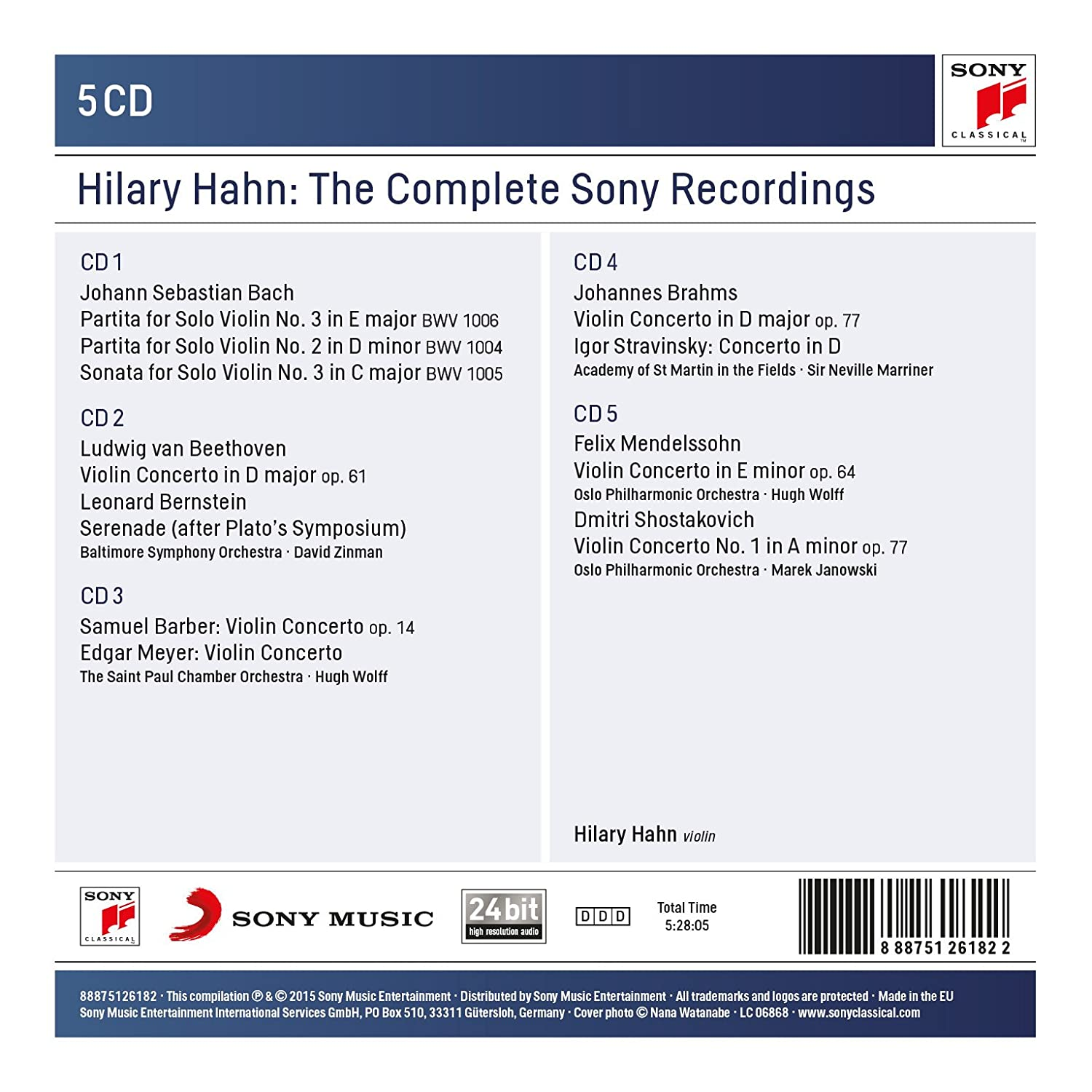 Hilary Hahn: The Complete Sony Recordings: Hilary Hahn: Amazon.es: Música