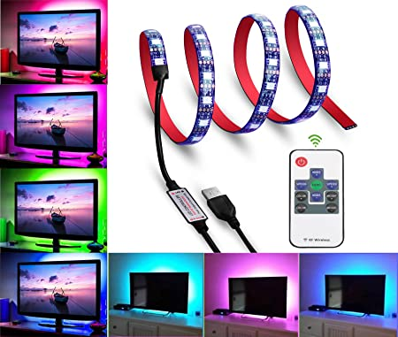 50CM RGB 5050 Flexible LED Light Strip TV Background Lighting for HDTV LCD PC US