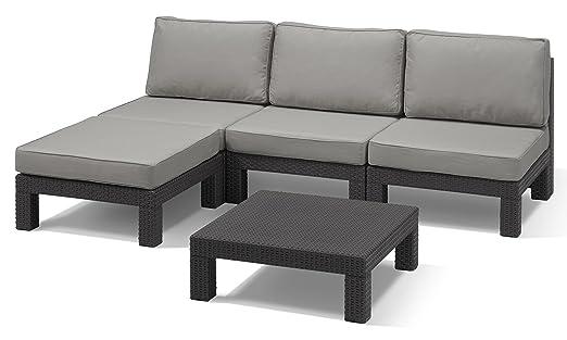 LuxuryGarden – Salón, sofá esquinero, de polipropileno ...