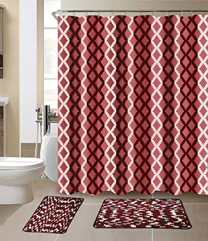 Amazon Com Luxury Home Collection 15 Pc Bath Rug Set Chennilewith