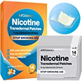 Aroamas Nicotine Patches [Step 2 (14mg), 21 Counts] for Smoking Cessation: for Week 7~8 - Nicotine Transdermal Patches…
