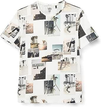 IKKS Junior tee-Shirt Blanc Cassé Imprimé Paysage Camiseta para Niños