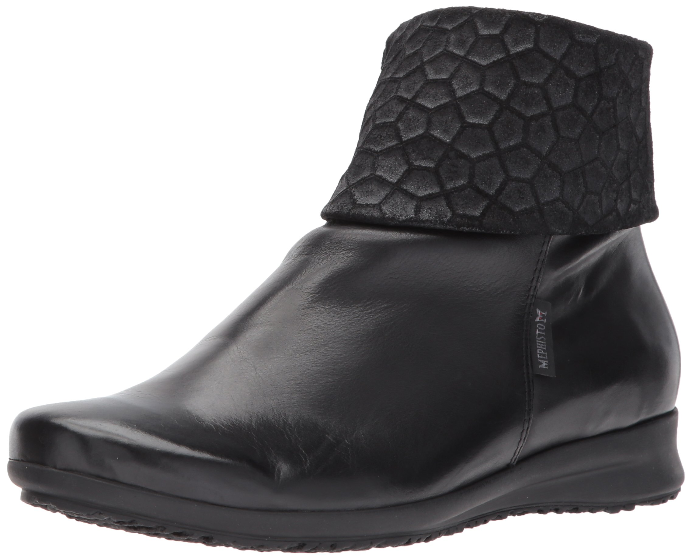Mephisto Women's Fiducia Ankle Bootie, Black Silk/Cubic, 11 M US by Mephisto (Image #1)